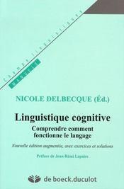 Linguistique cognitive ; comprendre comment fonctionne le langage - Intérieur - Format classique