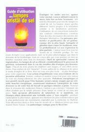 Guide d'utilisation des lampes en cristal de sel - 4ème de couverture - Format classique