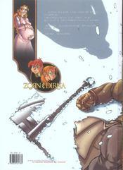 Zorn et Dirna t.3 ; les griffes de la meute - 4ème de couverture - Format classique