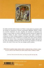 Amour et passe amour ; Lancelot-Guenièvre, Tristant-Yseut dans le Lancelot en prose et le Tristan en prose - 4ème de couverture - Format classique