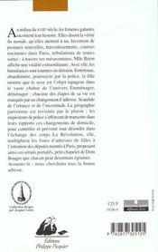 L'espion libertain ou le calendrier du plaisir ; histoires, adresses, tarifs et spécialités des courtisanes de paris - 4ème de couverture - Format classique
