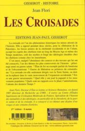 Les Croisades - 4ème de couverture - Format classique