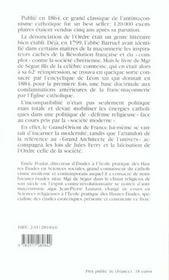 Antimaconnisme catholique (2e édition) - 4ème de couverture - Format classique