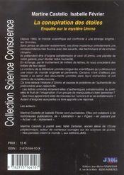 Conspiration des etoiles (la) - 4ème de couverture - Format classique