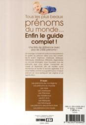 Le guide des plus beaux prénoms - 4ème de couverture - Format classique