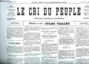 Fac Simile. Le Cri Du Peuple N° 25 Du 28 Mars 1871. - Couverture - Format classique