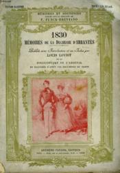 1830 Memoires De La Duchesse D'Abrantes. - Couverture - Format classique