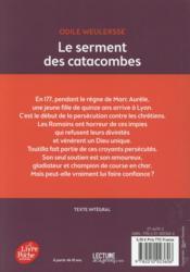 Le serment des catacombes - 4ème de couverture - Format classique