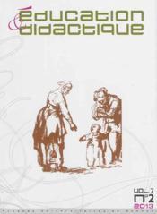 Education & Didactique 7 2 - Couverture - Format classique