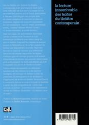 La lecture innombrable des textes du théâtre contemporain - 4ème de couverture - Format classique