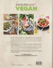 Saveurs vegan - 4ème de couverture - Format classique