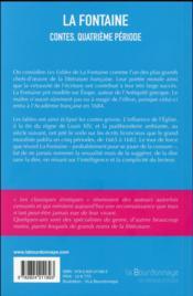 Contes, quatrième période - 4ème de couverture - Format classique