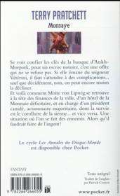 Les annales du Disque-monde T.32 ; monnayé - 4ème de couverture - Format classique