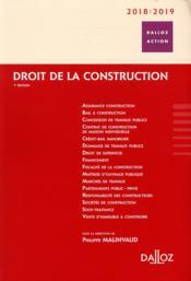 Droit de la construction (édition 2018/2019) - Couverture - Format classique