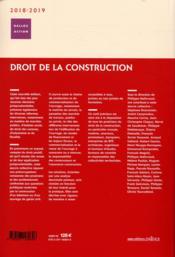 Droit de la construction (édition 2018/2019) - 4ème de couverture - Format classique