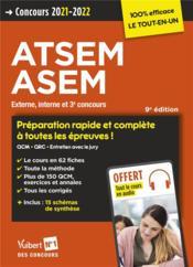 Concours ATSEM et ASEM - catégorie C - préparation rapide et complète à toutes les épreuves (édition 2021/2022) - Couverture - Format classique