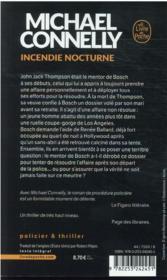 Incendie nocturne - 4ème de couverture - Format classique