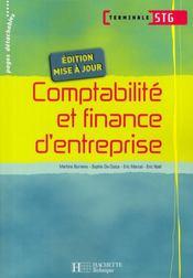 Comptabilité et finance d'entreprise ; terminale STG ; livre de l'élève - Intérieur - Format classique
