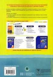 Comptabilité et finance d'entreprise ; terminale STG ; livre de l'élève - 4ème de couverture - Format classique
