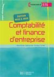 Comptabilité et finance d'entreprise ; terminale STG ; livre de l'élève - Couverture - Format classique