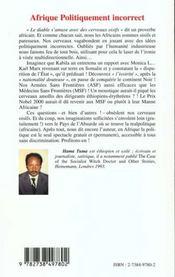Afrique Politiquement Incorrect - 4ème de couverture - Format classique