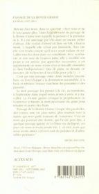 Passage De La Bonne-Graine - 4ème de couverture - Format classique