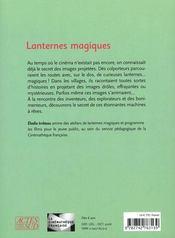 Lanternes magiques - 4ème de couverture - Format classique