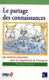 Le Partage Des Connaissances - Couverture - Format classique