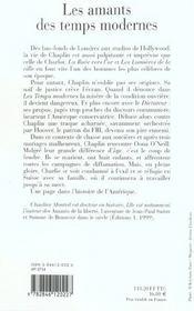 Les Amants Des Temps Modernes ; Oona Et Charlie Chaplin - 4ème de couverture - Format classique