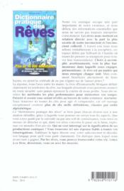 Dictionnaire pratique des reves - 4ème de couverture - Format classique