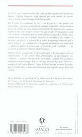 Iad greve des tranchees, les mutineries de 1917 (la) - 4ème de couverture - Format classique