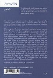 Le crépuscule des lieux ; aubes et couchant dans la poésie française du XIX siècle - 4ème de couverture - Format classique