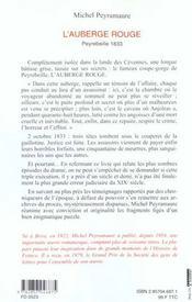 L'Auberge Rouge - 4ème de couverture - Format classique