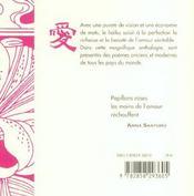 Haiku Pour Les Amants - 4ème de couverture - Format classique