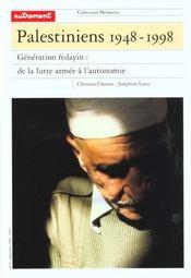 Palestiniens 1948-1998 - Intérieur - Format classique