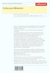 Palestiniens 1948-1998 - 4ème de couverture - Format classique