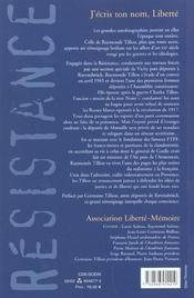 J Ecris Ton Nom Liberte - 4ème de couverture - Format classique