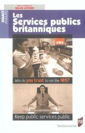Les services publics britanniques - Intérieur - Format classique