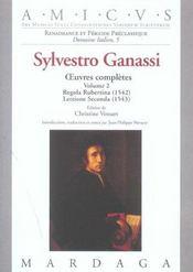 Sylvestro Ganassi - Oeuvres Completes Volume 2 - Intérieur - Format classique