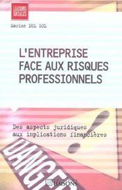 L'Entreprise Face Aux Risques Professionnels ; Des Aspects Juridiques Aux Implications Financieres - Intérieur - Format classique