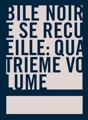 Bile Noire Se Recueille N.4 - Couverture - Format classique