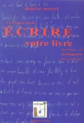 12 Etapes Pour Ecrire Votre Livre - Intérieur - Format classique