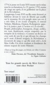 Révolution française t.1 ; le peuple et le Roi - 4ème de couverture - Format classique