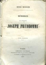 Mémoires de Monsieur Joseph Prudhomme. Tome II seul. - Couverture - Format classique