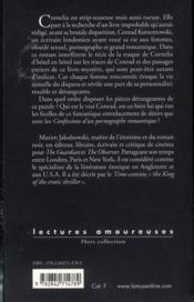 Confessions d'un pornographe romantique - 4ème de couverture - Format classique