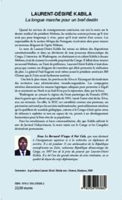 Laurent-Désiré Kabila ; la longue marche pour un bref destin - Couverture - Format classique