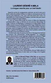 Laurent-Désiré Kabila ; la longue marche pour un bref destin - 4ème de couverture - Format classique