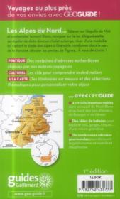 Geoguide ; Alpes Du Nord ; Savoie, Mont Blanc, Dauphiné - 4ème de couverture - Format classique
