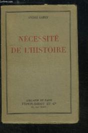 Nécessité de l'Histoire - Couverture - Format classique