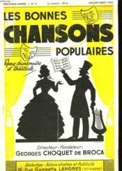 Les Bonnes Chansons Populaires - N°4 - Couverture - Format classique